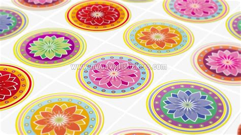 Wall Tiles Stickers adhesivo pared azulejo mandalas