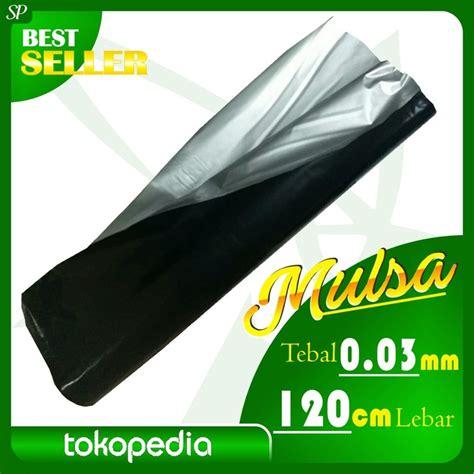 Harga Mulsa Plastik Hitam Perak 2017 plastik mulsa hitam perak lebar 120cm tebal 0 03mm