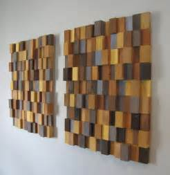 modern wood wall decor handmade 3d wooden block modern wall by