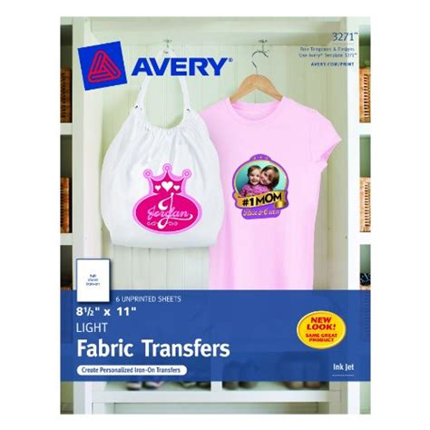 avery printable fabric for inkjet printers 5 pack avery personal creations inkjet iron on dark t shirt
