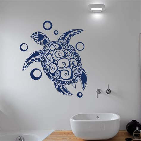 turtle wall stickers turtle wall decal sticker sea animals tortoise shell decals