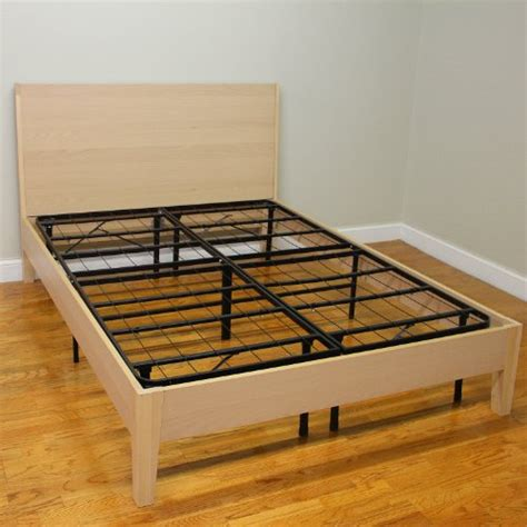 queen metal platform bed frame classic brands hercules platform heavy duty metal bed frame mattress foundation queen