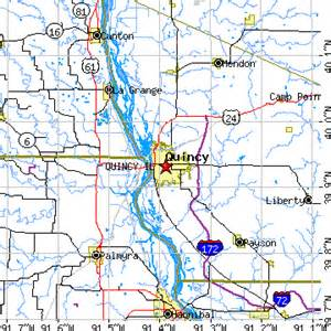 Quincy Zip Code Map by Quincy Illinois Il Population Data Races Housing