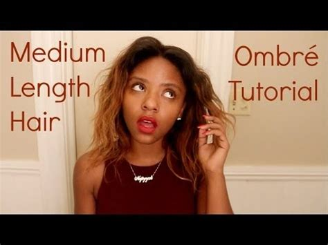 hpw to do ombre shoulder length hair yourself loreal medium length hair ombr 233 tutorial youtube