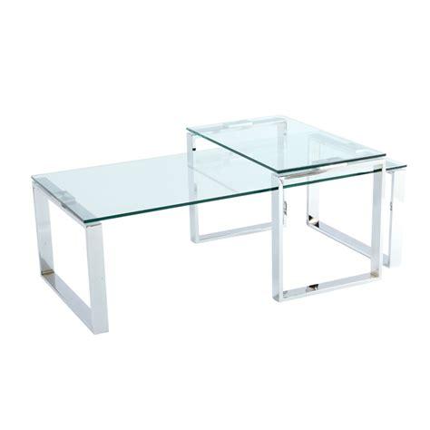 Glass Coffee Tables Span Glass Coffee Table Set Dwell