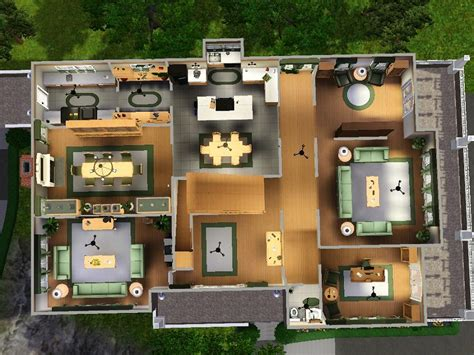 good 500 Sq Ft Apartment Floor Plan #4: sims-house-blueprints-two-story-views_129352.jpg