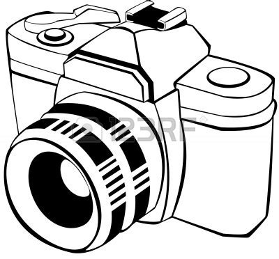 digital camera clipart black and white | clipart panda