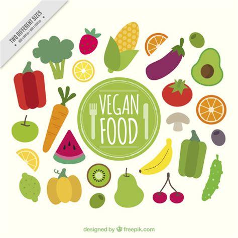 imagenes gratis comida fondo de comida sana plana vegana descargar vectores gratis