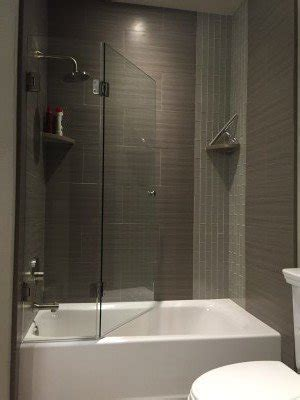 frameless bifold shower screen glass accents
