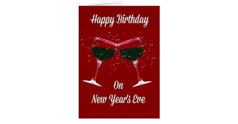 new year birthday happy birthday new year s card zazzle