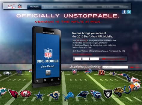 verizon apps for android nfl app launches on verizon