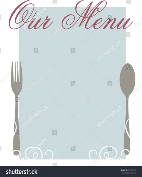 stock photo template an blank menu template stock photo 49570567