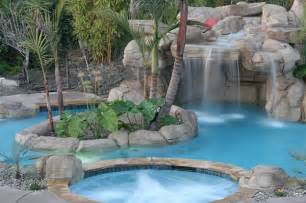 Backyard Splash Pad Cost Charming Amp Spectacular Pool Waterfalls To Fashion Every