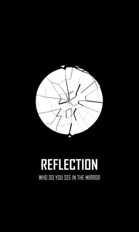 Reflection Motif Broken White bts wings logo reflection wallpaper bts 방탄소년단 logo bts and
