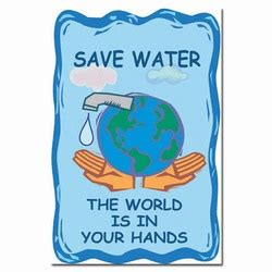 ai wp156 save water. the world is in your hands. water