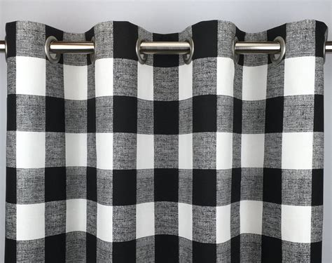 Black And White Gingham Curtains Black Buffalo Check Curtains Free Shipping Black Gingham