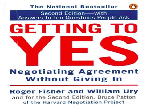 libro getting to yes negotiating getting to yes in the negotiation agreement