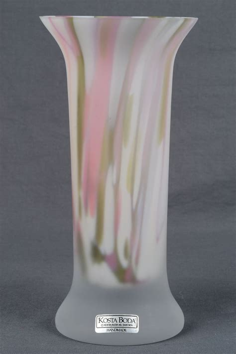 Kosta Boda Vase by Glass Quot Quot Kosta Boda Vase Artist Signed
