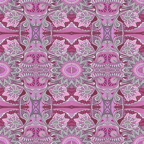 tribal magenta tribal flowers pink magenta fabric edsel2084 spoonflower