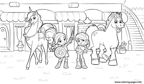 coloring pages knights and princesses nella de prinses 8 coloring pages knights and princesses