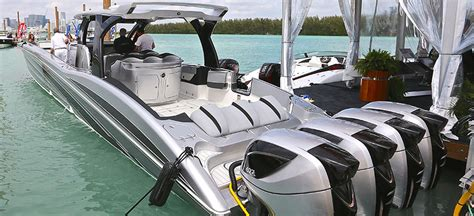 miami boat show prices super sized and super powered mti v 57 makes quite a