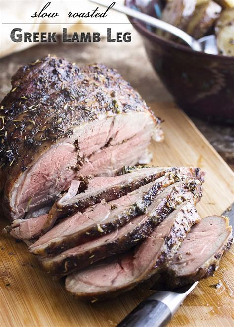 leg of lamb recipe roast lamb low carb keto diet recipes slow roasted greek lamb leg and potatoes just a little