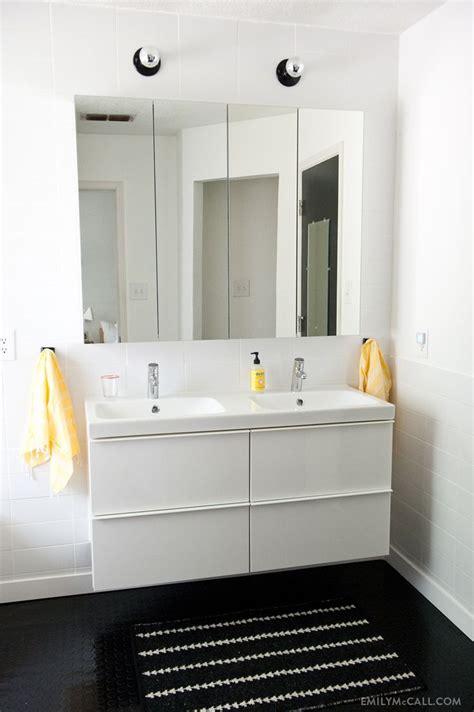 bathroom floor cabinet ikea master bathroom with ikea godmorgon mirrored medicine