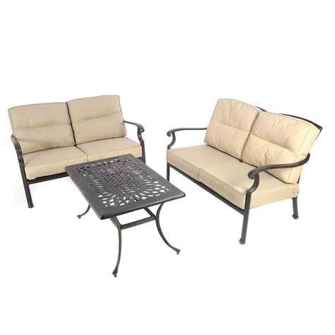 kensington 2 x lounge sofas coffee table outside