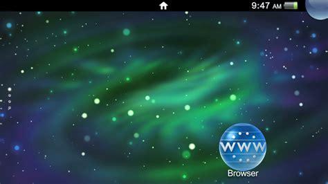 galaxy themes ps3 1 green galaxy theme on ps vita official playstation