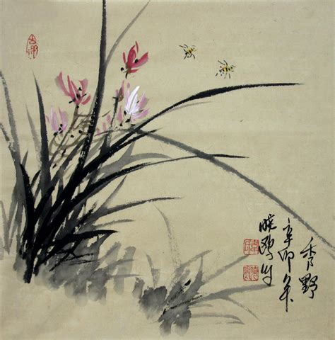 Color Affects Mood chinese painting orchid chinese painting blog