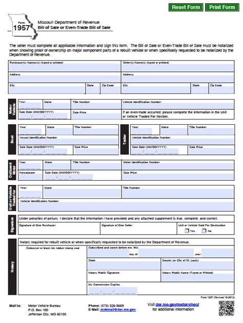 in missouri when does a boat s registration expire free missouri dmv vehicle boat bill of sale form pdf