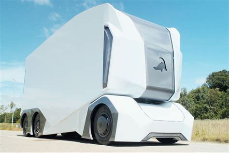 film semi delicious delivery this self driving truck has no room for a human driver