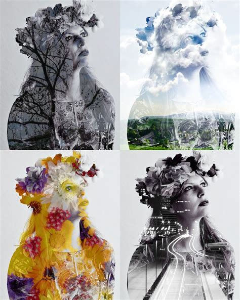 tutorial double exposure pin by patrizia habarta on graphic design pinterest