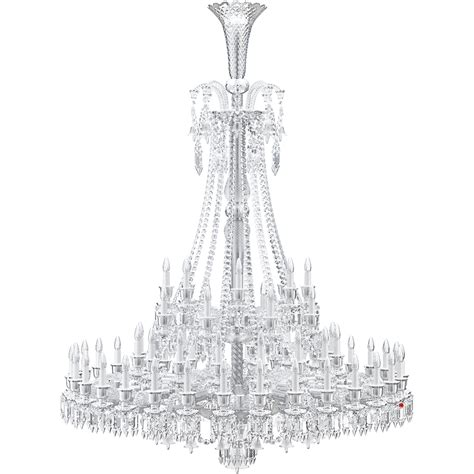 French Chandelier Cad And Bim Object Zenith Chandelier 64l Baccarat