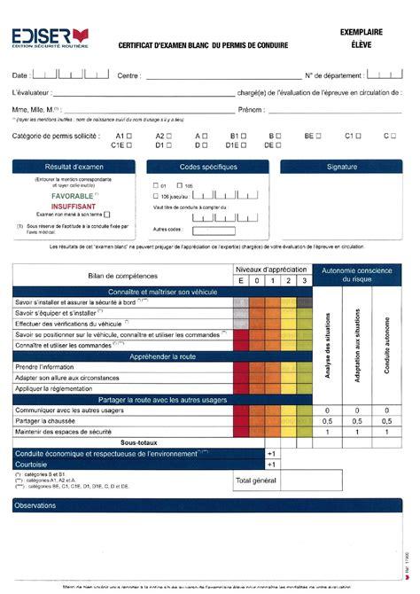Grille Examen Permis d 233 couvrir la grille d 233 valuation du permis de conduire