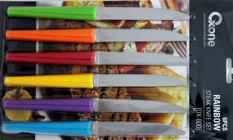 Oxone Rainbow Knife ox 600 6pcs rainbow steak knife set oxone perabotan