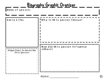 biography graphic organizer worksheets biography graphic organizer planning stage of writing tpt
