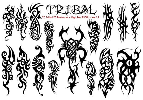 make a tattoo design online free tribal ps brushes vol 12 free photoshop brushes at