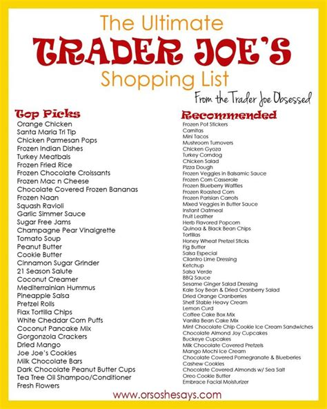 printable fodmap shopping list 17 best images about trader joe s recipes products on