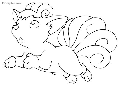 pokemon coloring pages of vulpix 11 pokemon vulpix coloring pages printable coloring