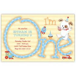 im one boy 1st birthday invitations paperstyle