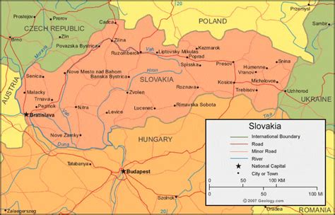 where is slovakia on the world map slovakia map and satellite image