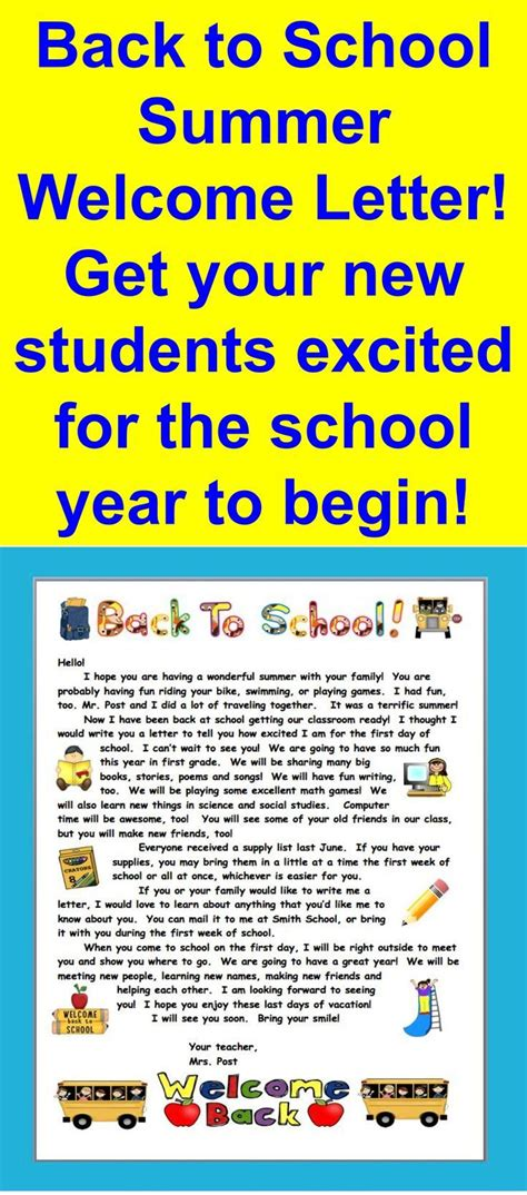 best 25 classroom welcome letter ideas on