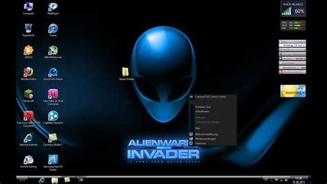 alienware theme for windows 7 kickass alienware invader windows 7 theme mp4 youtube