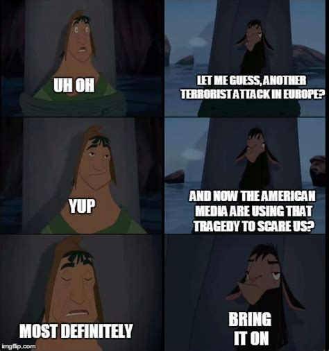 Bring It On Meme - bring it on kuzco meme www pixshark com images