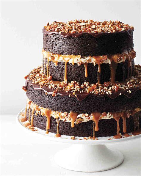 chocolate stout cake  caramel buttercream salted caramel candied pecans  ganache