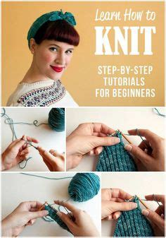 how to knit step by step teach yourself to knit with five easy i already