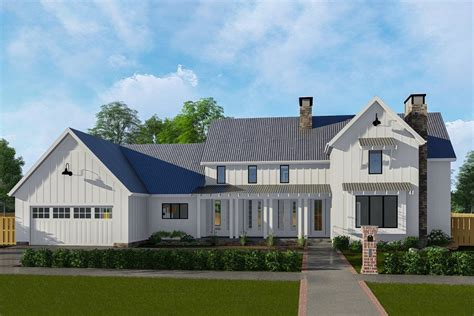 classic farmhouse with two story great room 62728dj
