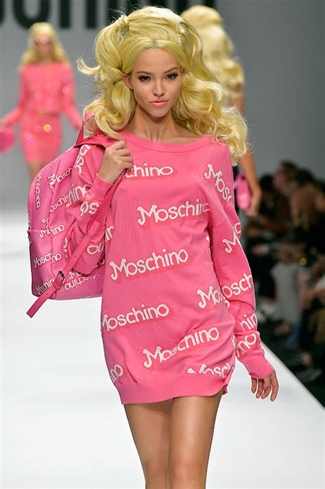 design a doll elle the moschino s s 15 runway capsule has landed