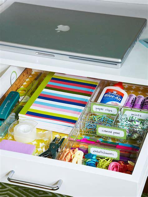 How To Organize A Desk Drawer by Tu Casa February 2012